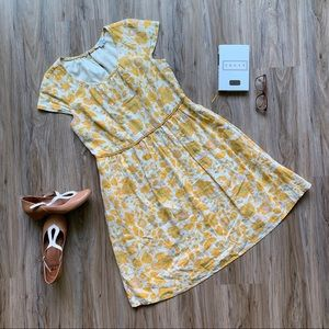 Boden 100% Linen Fit and Flare Sundress Flowers